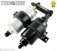 Bosch 044 Fuel Pump And Billet High Flow Fuel Filter Assembly In BLACK (AN6/AN8)