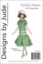 """Perfect Pleats Doll Clothes Sewing Pattern for 16"""" Poppy & Tullabelle Integrity"""