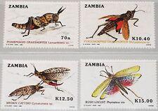 ZAMBIA SAMBIA 1989 503-06 478-81 Grasshoppers Heuschrecken Insekten Insects MNH