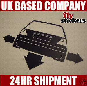 NEW* Down and Out Sticker, Volkswagen Mk2 Golf GTI