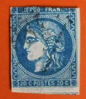 Céres émiss de Bordeaux N° 45 type II Rep 2 (TB-1249-1) Oblit Los :GC COTE 175€