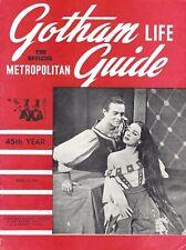 "Alfred Drake ""KISS ME KATE"" Patricia Morison / Cole Porter 1950 ""Gotham Guide"""