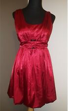 Candies Red Satin bubble Dress Size 5