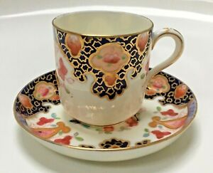 Antique Porcelain Imari Pattern Coffee Can and saucer