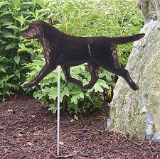 Black Labrador Retriever Outdoor Garden Dog Sign Hand Painted Figure