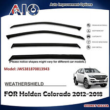 AD WEATHERSHIELD WINDOW VISOR FOR HOLDEN Colorado DUAL CAP 2012-2018 4pcs