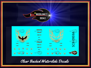 1/64 '77 Firebird 'Gold Phoenix Decal Set' SCR-0959A