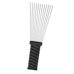 1pc Metal African Hair Styling Pick Afro Comb Brush Salon Hairdressing Tool