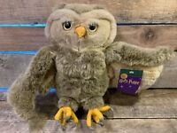 "Harry Potter MESSENGER OWL Plush Stuffed 12"" Toy With Tag Warner Bros Store 2000"