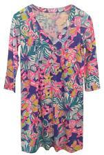 Lilly Pulitzer Womens Bright Pink Blue Multi Amberly Dress New NWT 2 XS