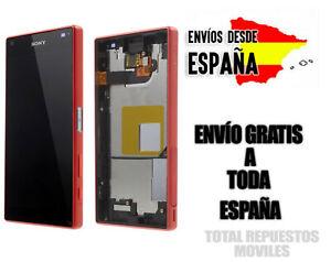 Pantalla Completa LCD + Tactil + Marco Sony Xperia Z5 Compact Roja Original