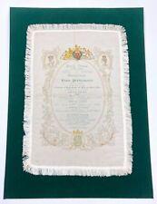NIJINSKY, MELBA, TETRAZZINI: 1911 Royal Opera House Programme, Printed on Silk