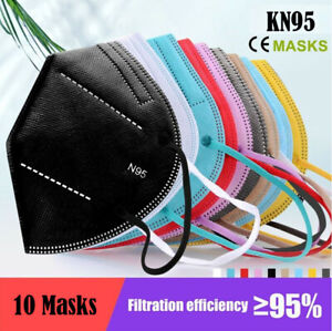 X10 N95 KN95 Mask Respirator Face Masks Disposable Anti Dust Filter AU