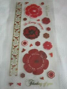 **Craft Room Clear Out**  Poppy Themed Sticker Sheet