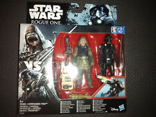 Star Wars Rogue One Rebel Commando Pao & Imperial Death Trooper Figures 3.75""