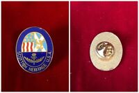 Red White Blue Cloisonne Enamel Scottish Heritage USA Oval Tie Hat Lapel Pin 1""