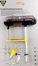 Topeak ComboTorq Wrench & Bit Set TPS-SP07 3-12Nm + 3/4/5/6mm hex keys+ T25 Torx