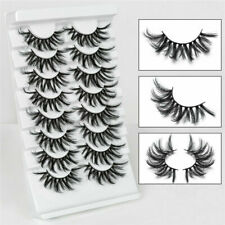 New 8 Pairs 3D Long False Eyelashes Wispy Cross Fluffy Extension Lashes