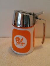 Vintage 1959 Dripcut Syrup Sugar Server #900 Orange Morning Glory Dispensers