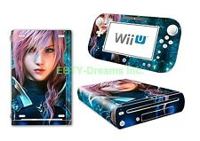 Final Fantasy 13 FFXIII FF13 Lightning Skin Sticker Decal Protector for Wii U