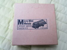 Micro-Mini Metal Truck set of 6, 1:160 scale, fire, delivery, dump...