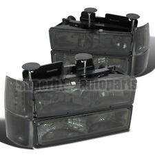 1994-1998 Chevy Tahoe/ C10/ Suburban Euro Head Lights+Corner+Bumper Smoke