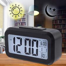 LED Alarm Clock Backlight Time Calendar Digital Snooze Thermometer Temperature M