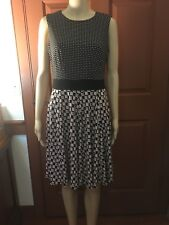 Women's Black/Pink/Olive North Style Dress, Size 8/M, Fit & Flare