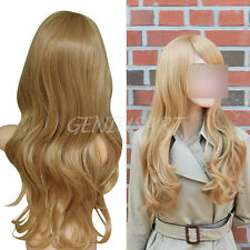"""28.35"""" Female Vogue Stylish Lady Sexy Long Wavy Blonde Curly Hair Perruque Wig"""