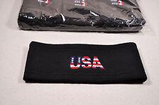 Men Women Headband Sweatband Warmer Fleece Patriotic USA Red White Blue Ear USPS