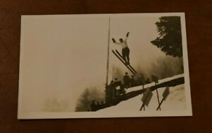 Early 1900's Original Photo Postcard of European SKIER -Great Image!-Low Price