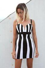 Authentic MARK WONGNARK Striped Black White Dress