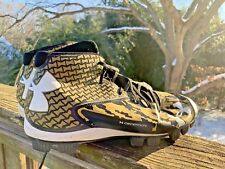 UNDER ARMOUR Deception Baseball Cleats Black Gold Camouflage Shoes Sz 11.5 👣b7