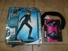 CATWOMAN HALLOWEEN COSTUME SZ SMALL DRESS UP NEW DC BATMAN MOVIE BONUS EARS TAIL