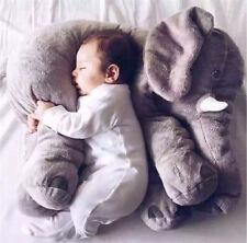 Long Nose Elephant Animal Doll Pillow Soft Plush Stuff Toy Lumbar For Baby Kids