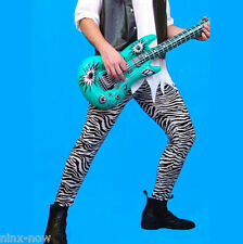 Men's 80's Rock Star Celebrity Zebra Print Pants One Size