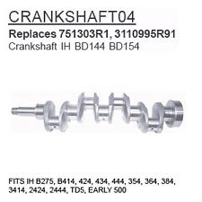 CRANKSHAFT04 Case Tractor Parts Crankshaft IH BD144 BD154 IH B275, B414, 424, 43