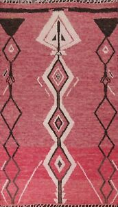 Geometric Moroccan Oriental Area Rug Hand-knotted Wool Decorative Carpet 6x9 ft