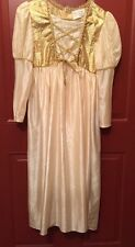 Girls Princess Gold Renaissance Costume Dress Childs Large Halloween Role Play