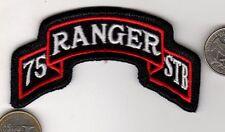 Original US ARMY 75th Ranger Battalion Tab Patch '75 RANGER  STB' CLOTH BADGE