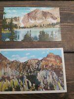 Vintage Wyoming Postcards Unused Souvenir 1930s Sanborn Souvenir Company Rare