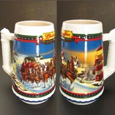 Budweiser Beer Clydesdales Horses Large Stein Mug Cup Guiding Way Home 2002