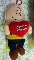 "Charlie Brown Valentine 8"" Plush Charm DanDee Collector's choice"