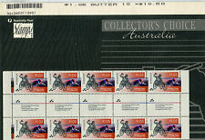 1996 Paralympic Games Atlanta Gutter Strip of 10 Collector's Choice MNH Stamps