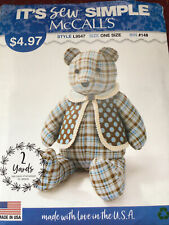 McCall L9547 It's Sew Simple Memory Bear Sewing Pattern