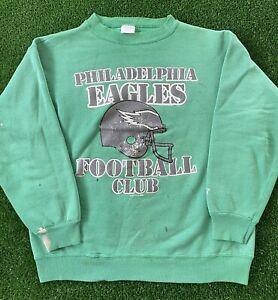 VTG 1988 Philadelphia Eagles Starter NFL Kelly Green Crewneck Sweatshirt 80s