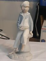 LLADRO 1977 Retired Porcelain Figurine Sailor Boy With Sailboat #4810