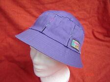 Kofferhut Sonnenhut lila mit Streifen Skaterhut Sonnenschutz Baumwolle UV-Schutz