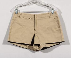 "J Crew Chinos Beige Tan 100% Cotton Flat 5 Pocket 3"" Casual Shorts Sz 6"