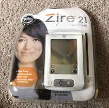 New Sealed Palm Zire 21 Handheld Palm Pilot Pda White 8Mb Memory